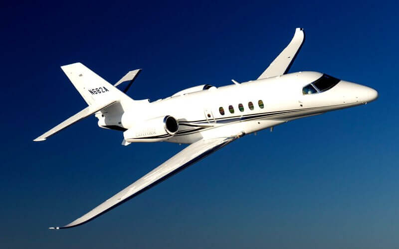 Cessna Citation Latitude in Flight