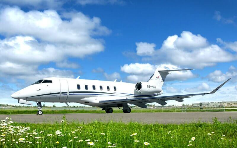 Challenger 300/350 on tarmac runway